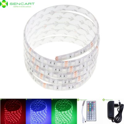 Sencart 5M 300 SMD 5050 75W RGB LED Strip Light PackLED Strips<br>Sencart 5M 300 SMD 5050 75W RGB LED Strip Light Pack<br><br>Brand: Sencart<br>Type: LED Strip<br>Features: IP-68,Cuttable,Remote Control,Waterproof<br>Length: 5m<br>LED Type: SMD-5050<br>Chip Brand: Epistar<br>Number of LEDs: 60 x SMD 5050 / M<br>Theoretical Lumens: 4800LM<br>Actual Lumens: 3600LM<br>Optional Light Color: RGB<br>Connector type: EU plug<br>Input Voltage: AC100-240<br>Output Voltage: 12V<br>Rated Current: 2A<br>Material: FPC<br>Product weight: 0.165 kg<br>Package weight: 0.286 kg<br>Product size (L x W x H): 500.00 x 1.00 x 0.30 cm / 196.85 x 0.39 x 0.12 inches<br>Package size (L x W x H): 12.00 x 4.00 x 4.00 cm / 4.72 x 1.57 x 1.57 inches<br>Package Contents: 1 x Sencart RGB LED Strip Light, 1 x Remote Controller (CR2025 Battery Included), 1 x Controller Box, 1 x EU Plug AC Adapter