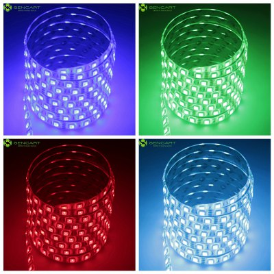 Sencart 5m 75W 300 x SMD 5050 Waterproof RGB LED Light Strip Set - EU