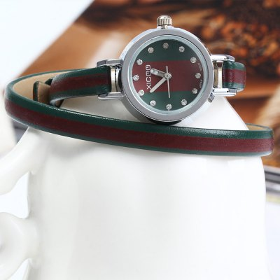 XICOO 488 Long Leather Band Women Quartz Watch