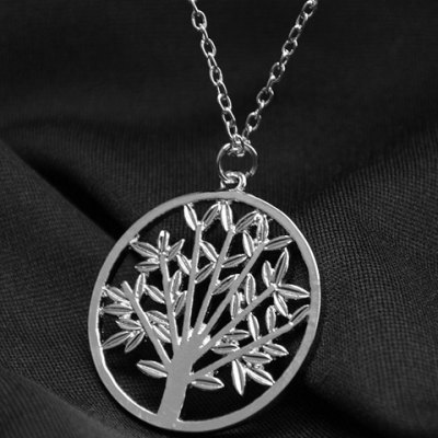 Vintage Divergent the Tree of Life Pendant Necklace For Women