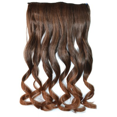 Fluffy Curly Capless Long Ombre Clip In Synthetic Hair Extension