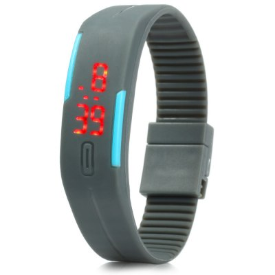 Red Digital LED Watch with Rubber Band Date Display от GearBest.com INT