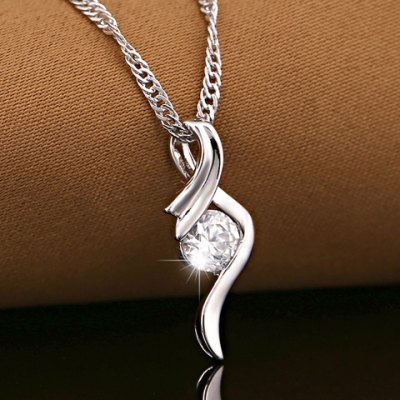 Trendy Faux Crystal Hollow Out Necklace For Women