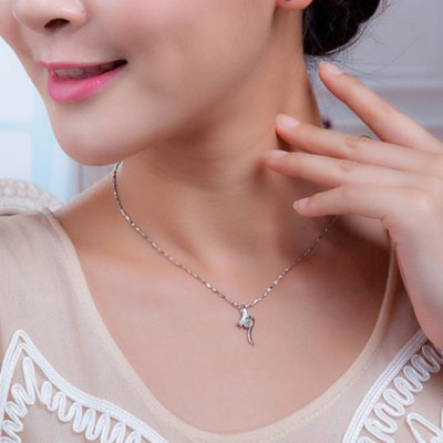 Fashionable Faux Crystal Hollow Out Necklace For Women