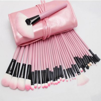 32PCS Synthetic Hair Makeup BrushMakeup Brushes &amp; Tools<br>32PCS Synthetic Hair Makeup Brush<br><br>Type: Makeup Brushes<br>Features: Soft, Lightweight, Easy to Carry, Environment Friendly<br>Functions: Comestic for Party<br>Product weight: 0.380 kg<br>Package weight: 0.540 kg<br>Product size (L x W x H): 24 x 15.5 x 5 cm / 9.43 x 6.09 x 1.97 inches<br>Package size (L x W x H): 35 x 28 x 8 cm / 13.76 x 11.00 x 3.14 inches<br>Package Contents: 32 x Makeup Brush, 1 x Foldable Leather Bag