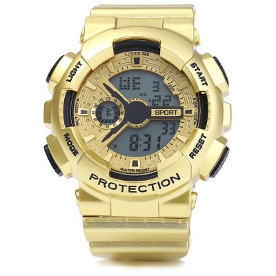 8886 Men LED Sports Watch Digital WristwatchSports Watches<br>8886 Men LED Sports Watch Digital Wristwatch<br><br>People: Male table<br>Watch style: Outdoor Sports,LED<br>Watch color: Gold, Silver, Rose Gold, Champagne<br>Movement type: Digital watch<br>Display type: Digital<br>Case material: PC<br>Band material: Rubber<br>Clasp type: Pin buckle<br>Special features: EL Back-light,Alarm Clock,Day,Date,Stopwatch<br>The dial thickness: 1.5 cm / 0.59 inches<br>The dial diameter: 5.0 cm / 1.97 inches<br>The band width: 2.0 cm / 0.79 inches<br>Wearable length: 15.5 - 22 cm / 6.1 - 8.66 inches<br>Product weight: 0.054 kg<br>Package weight: 0.104 kg<br>Product size (L x W x H): 26.5 x 5 x 1.5 cm / 10.41 x 1.97 x 0.59 inches<br>Package size (L x W x H): 27.5 x 6 x 2.5 cm / 10.81 x 2.36 x 0.98 inches<br>Package Contents: 1 x 8886 Watch