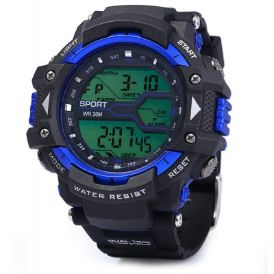 8338G Male LED Sports Watch