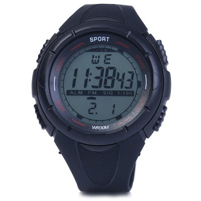 8333G Day Date Alarm Stopwatch Men LED Sports Watch