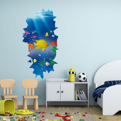 3D PVC Seaworld Pattern Wall Stickers