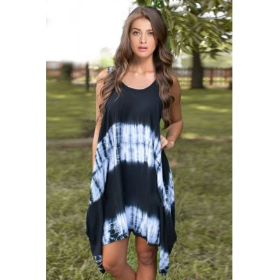 Casual Scoop Neck Sleeveless Asymmetrical Tie-Dye Dress For WomenWomens Dresses<br>Casual Scoop Neck Sleeveless Asymmetrical Tie-Dye Dress For Women<br><br>Style: Casual<br>Material: Cotton Blend<br>Silhouette: Asymmetrical<br>Dresses Length: Knee-Length<br>Neckline: Scoop Neck<br>Sleeve Length: Sleeveless<br>Pattern Type: Patchwork<br>With Belt: No<br>Season: Spring,Summer<br>Weight: 0.230KG<br>Package Contents: 1 x Dress