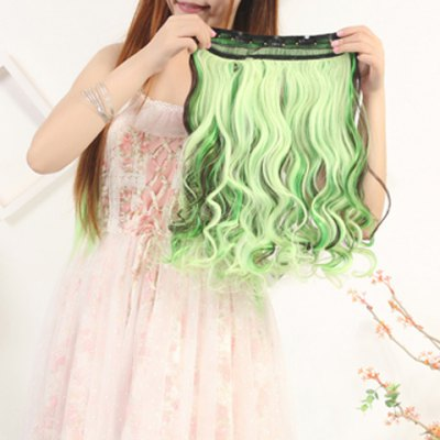 Fashion Mixed Color Synthetic Attractive Long Clip In Fluffy Curly Hair Extension For Women