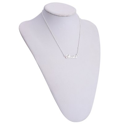 Chic Word Blessed Pendant Necklace For Women