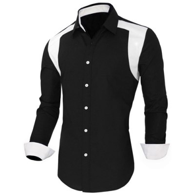 Color Block Spliced Design Turn-Down Collar Long Sleeve Mens ShirtMens Shirts<br>Color Block Spliced Design Turn-Down Collar Long Sleeve Mens Shirt<br><br>Shirts Type: Casual Shirts<br>Material: Cotton,Polyester<br>Sleeve Length: Full<br>Collar: Turn-down Collar<br>Weight: 0.55KG<br>Package Contents: 1 x Shirt