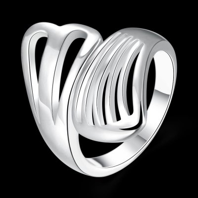 R742 Silver Plated New Design Finger Ring for Lady