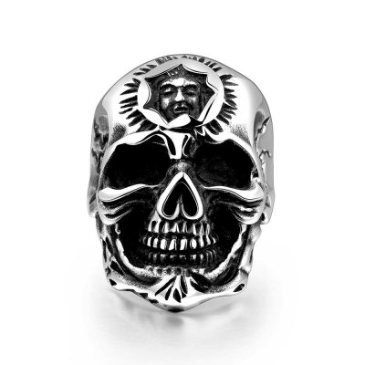 Stylish Various Styles 316L Stainless Steel Punk Ring