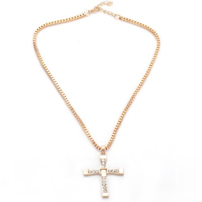 Fashionable Cross Rhinestone Alloy Necklace for LadiesNecklaces &amp; Pendants<br>Fashionable Cross Rhinestone Alloy Necklace for Ladies<br><br>Gender: For Women<br>Item Type: Pendant Necklaces<br>Metal Type: Alloy<br>Necklace Type: Link Chain<br>Material: Alloy<br>Length of Chain: 24cm / 9.43inch<br>Style: Trendy<br>Shape/Pattern: Cross<br>Size of Pendant: 5cm x 3.6cm x 0.3cm / 1.97inch x 1.41inch x 0.12inch<br>Width: 0.3cm / 0.12inch<br>Weight: 0.035kg<br>Package Contents: 1 x Necklace