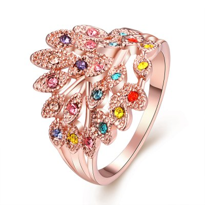 R062 Nickle Free Antiallergic New Fashion Jewelry Gold Plated Ring