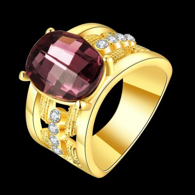 R780-A-8 Nickle Free Antiallergic New Fashion Jewelry 18K Gold Plated RingRings<br>R780-A-8 Nickle Free Antiallergic New Fashion Jewelry 18K Gold Plated Ring<br>