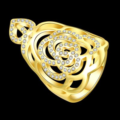 R749-A-8 Nickle Free Antiallergic New Fashion Jewelry 18K Gold Plated RingRings<br>R749-A-8 Nickle Free Antiallergic New Fashion Jewelry 18K Gold Plated Ring<br>