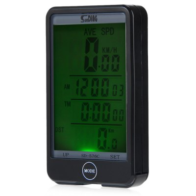 Sunding SD - 576C Waterproof Mode Touch Wireless Bicycle Computer Odometer