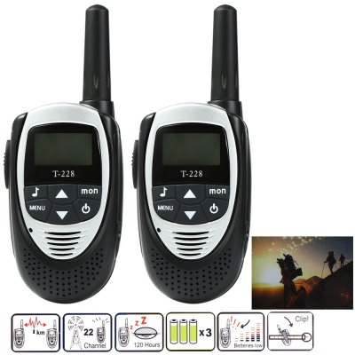 T-228 2pcs Walkie Talkie