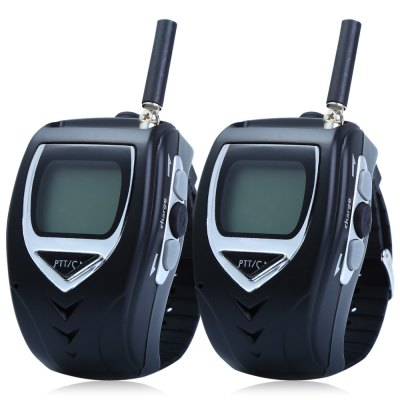018 2pcs 22-Channel Wrist Watch Style Walkie Talkie