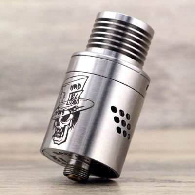 Original ADVKEN Mad Hatter V2 RDARebuildable Atomizers<br>Original ADVKEN Mad Hatter V2 RDA<br><br>Brand: ADVKEN<br>Model: Mad Hatter V2 RDA<br>Type: Rebuildable Atomizer,Rebuildable Drippers<br>Rebuildable Atomizer: RBA,RDA<br>Available color: Multi-color<br>Material: Stainless Steel<br>Coil Quantity: Octuple coil<br>Thread: 510<br>Overall Diameter: 22mm<br>Product weight: 0.050 kg<br>Package weight: 0.150 kg<br>Product size (L x W x H): 2.20 x 2.20 x 4.60 cm / 0.87 x 0.87 x 1.81 inches<br>Package size (L x W x H): 8.00 x 6.50 x 3.60 cm / 3.15 x 2.56 x 1.42 inches<br>Package Contents: 1 x ADVKEN Mad Hatter V2 RDA, 1 x 510 Drip Tip, 1 x 510 Drip Tip Adapter, 1 x Glasses Cloth