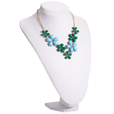 Fresh Style Flower Shaped Ladies Choker Necklace