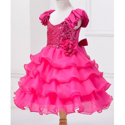 fashionable-sleeveless-flower-spliced-sequins-embellish-multilayered-mini-ball-gown-dress-for-girl