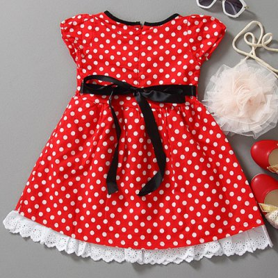 Cute Cap Sleeve Bowknot Design Polka Dot Mini Dress For GirlGirls Clothing<br>Cute Cap Sleeve Bowknot Design Polka Dot Mini Dress For Girl<br><br>Style: Cute<br>Material: Cotton Blend<br>Silhouette: A-Line<br>Dresses Length: Mini<br>Neckline: Round Collar<br>Sleeve Length: Short Sleeves<br>Embellishment: Bowknot<br>Pattern Type: Polka Dot<br>With Belt: No<br>Season: Summer<br>Weight: 0.120KG<br>Package Contents: 1 x Dress