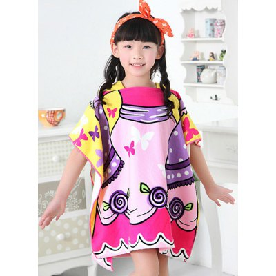 Cute Hooded Butterfly Pattern Loose-Fitting Girl's Cloak Cover Up