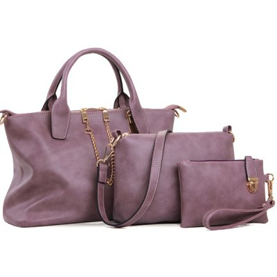 Concise Chains and Solid Color Design Women's Tote Bag