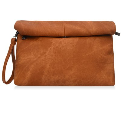 Concise Solid Color and Denim Design Women's Clutch Bag