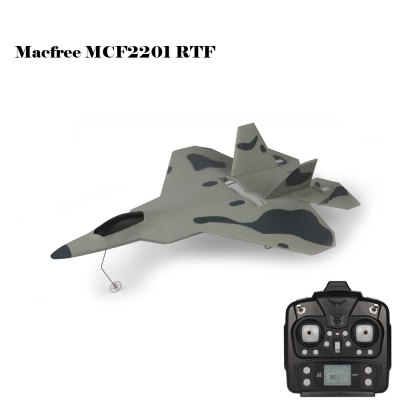Macfree F - 22 F22 MCF2201 Brushed 2.4GHz 6 Channel 6 Axis Gyro 222mm Wingspan Fixed-wing Aircraft RTF Version