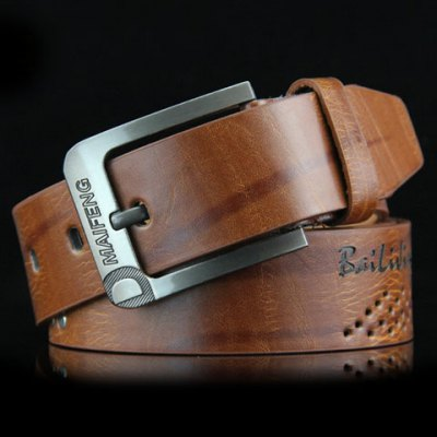 Square Shape Pin Buckle Wide Belt For Men