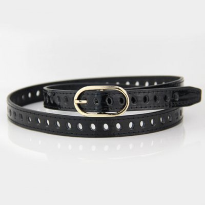 Hollow Out Alloy Pin Buckle Elastic Waist Belt For Women