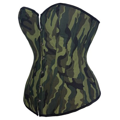 Stylish Strapless Camouflage Print Lace-Up Womens CorsetCorsets &amp; Shapewear<br>Stylish Strapless Camouflage Print Lace-Up Womens Corset<br><br>Material: Polyester<br>Pattern Type: Print<br>Embellishment: Pattern<br>Weight: 0.230KG<br>Package Contents: 1 x Corset