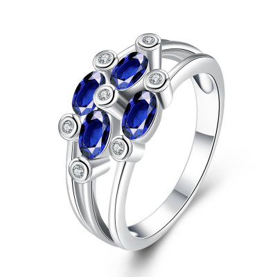 R414-A-8 Nickle Free Antiallergic New Fashion Jewelry Zircon Ring