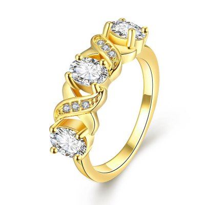 R396-A-8 Nickle Free Antiallergic New Fashion Jewelry Zircon Ring