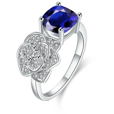 R411-A-8 Nickle Free Antiallergic New Fashion Jewelry Zircon Ring