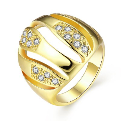 Nickle Free Antiallergic New Fashion Jewelry Zircon Ring