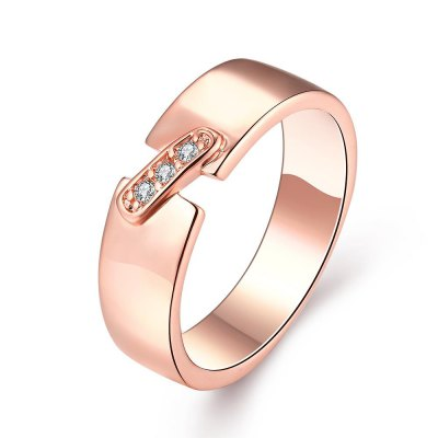 R395-B-8 Nickle Free Antiallergic New Fashion Jewelry Zircon Ring