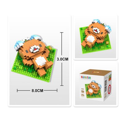LOZ 270Pcs 9434 Bear Style Building Block Toy for Enhancing Social Cooperation Ability