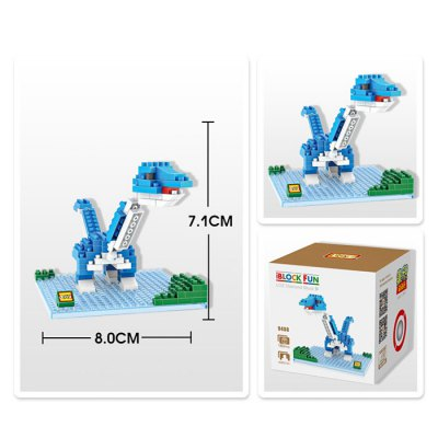 LOZ 180Pcs Jurassic Park 9488 Brontosaurus Figure Building Block Toy for Enhancing Social Cooperation Ability
