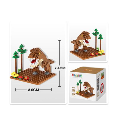 LOZ 190Pcs 9485 Jurassic Park Tyrannosaurus Figure Building Block Toy for Enhancing Social Cooperation Ability