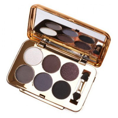 6 Colours Pearl Matte Eyeshadow Palette with Mirror and Brush