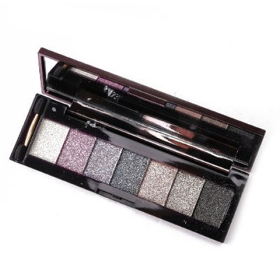 7 Colours Shimmer Eyeshadow Palette with Mirror and Brush
