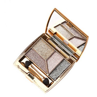4 Colours Diamond Shimmer Eyeshadow Palette with Mirror and Brush
