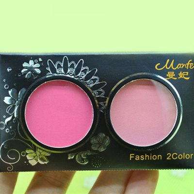 Cosmetic 2 Colours Mineral Natural Ruddy Blush Palette with Mirror and Brush
