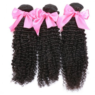 3pcs Indian Remy Kinky Curly Human Hair Weave Extension